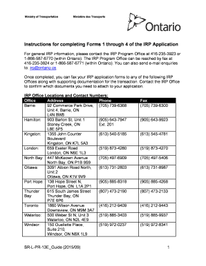 application for vehicle transfer ontario