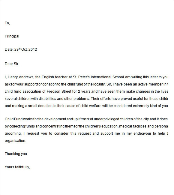 writing a letter of support for grant application