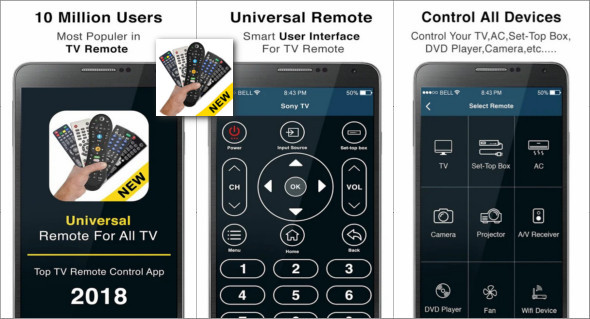 application android pour telecommande tv