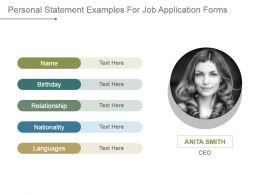 supporting statement examples for job application forms