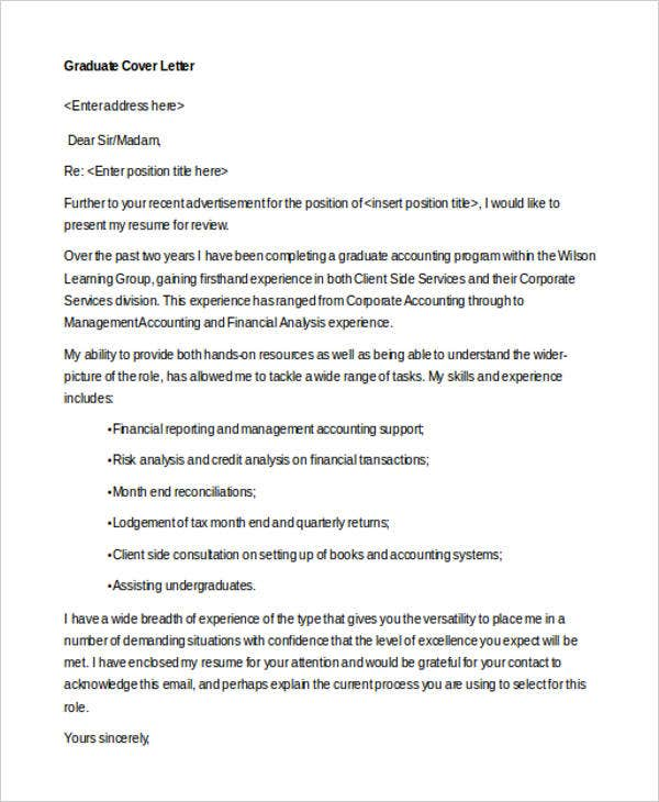 cover letter for financial accountant job application