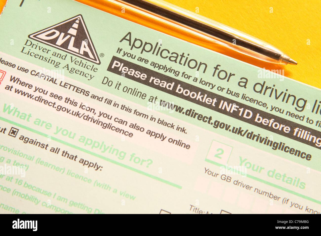 vehicle licence renewal application form