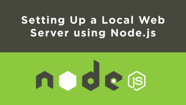 web application using node js