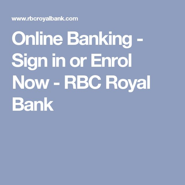 rbc online application sign in