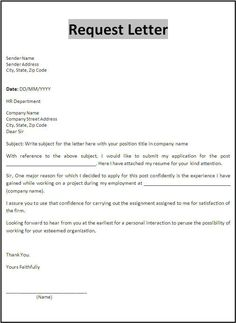request letter for certificate of employment for visa application