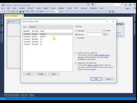 windows form application visual studio 2013