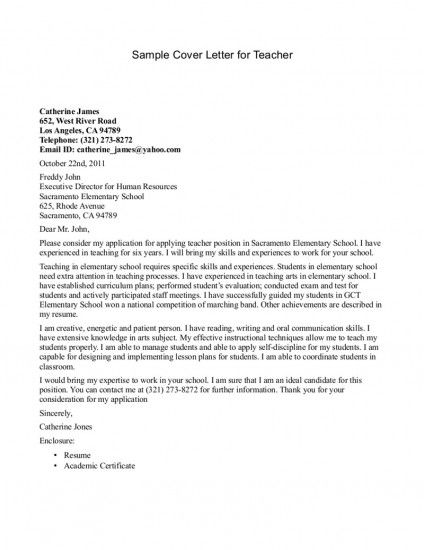 cover letter for school application examples