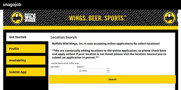 buffalo wild wings job application