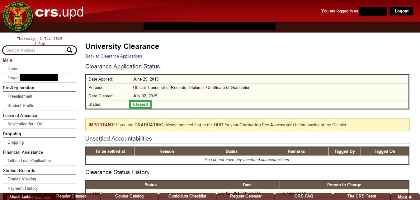 university of victoria application status