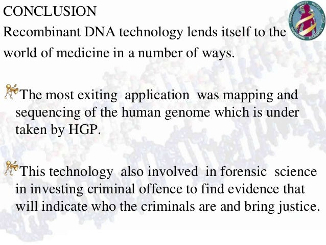 application of recombinant dna technology in medicine pdf