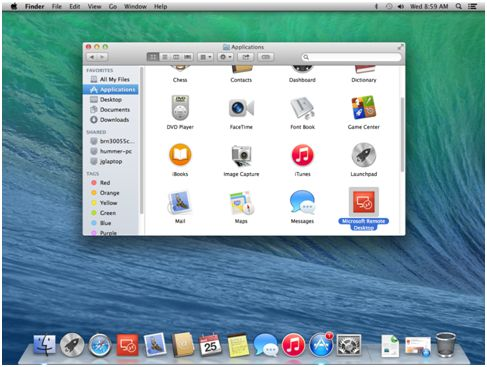 how to access applications on mac