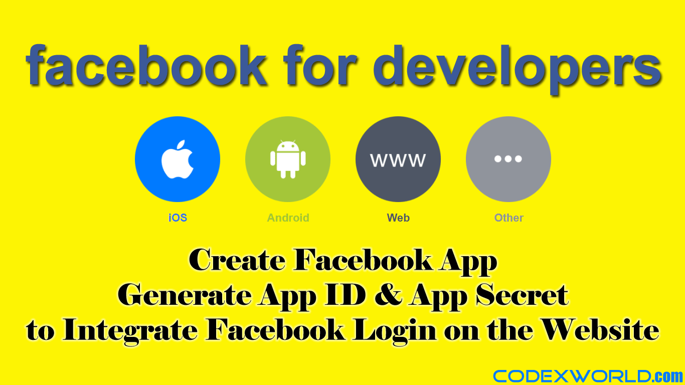 how to create facebook application id and secret key