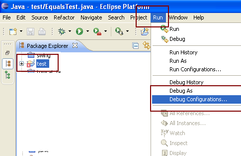remote java application eclipse missing