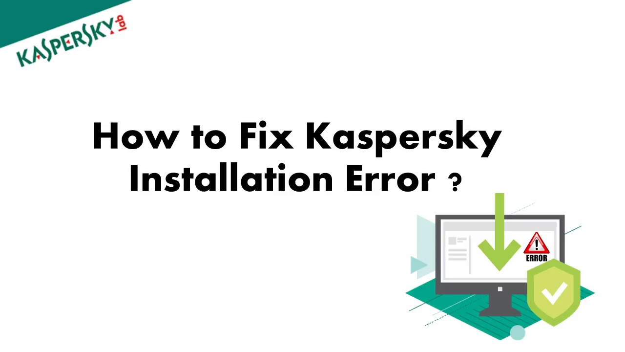 fix error kaspersky loading the application