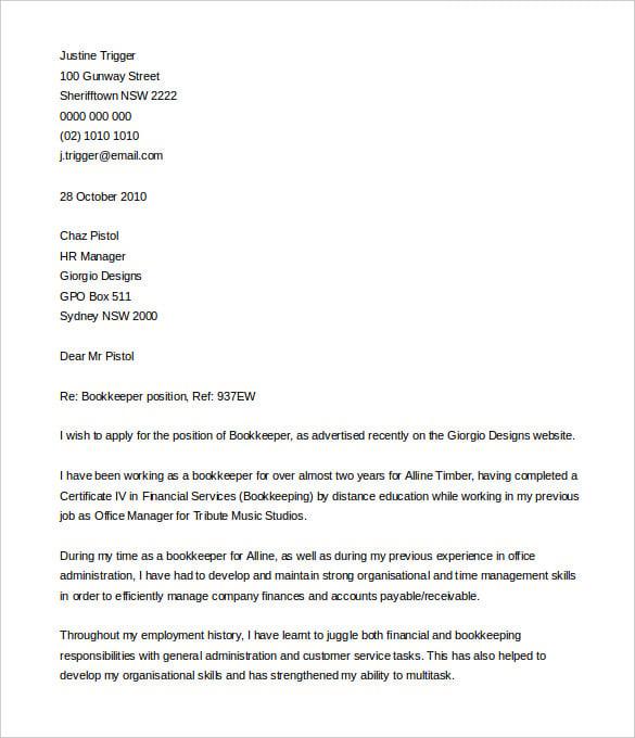 rental application cover letter sample australia