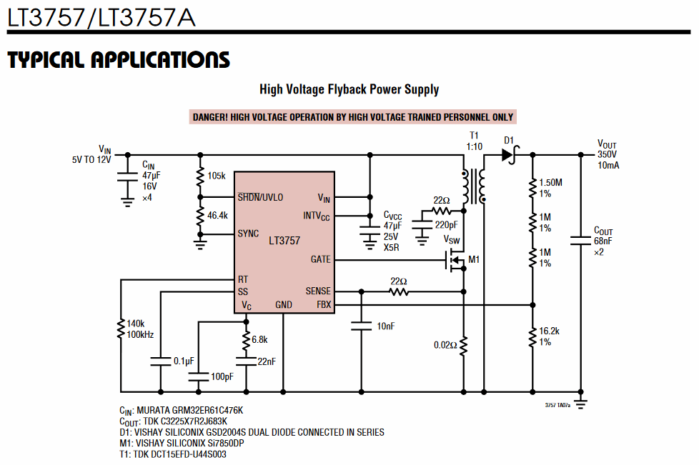 important applications of high voltage
