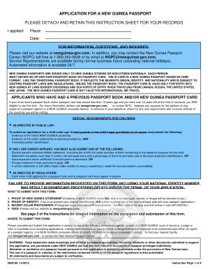 new passport application form online