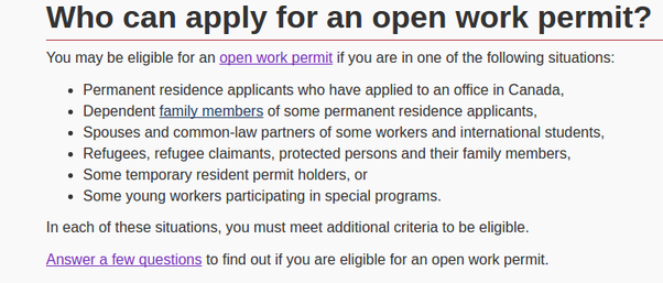open work permit canada application form