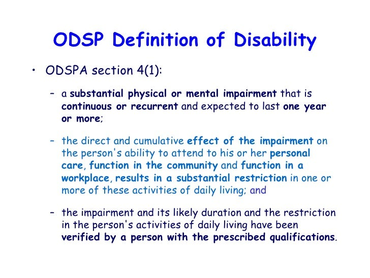 application for ontario disability support program form