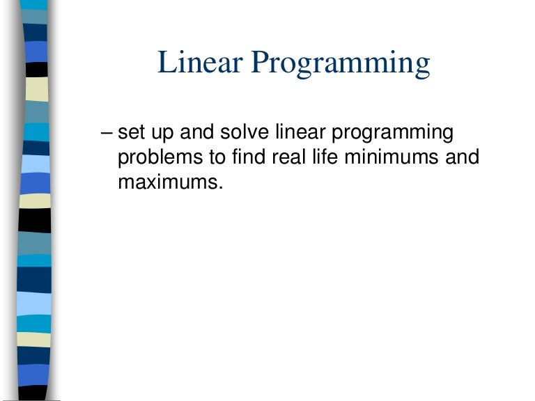 applications of linear programming in real life
