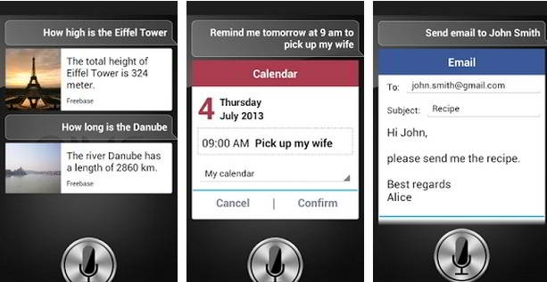 personal assistant application for android