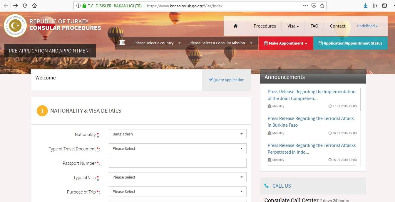 turkish embassy in lebanon visa application