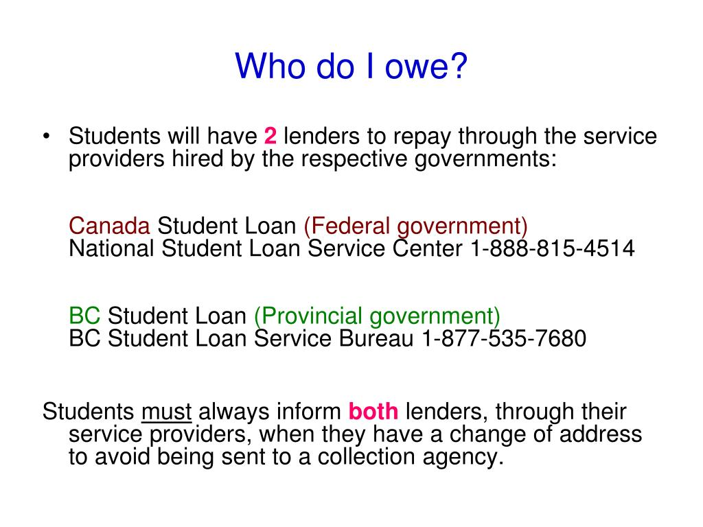 canlearn repayment assistance online application