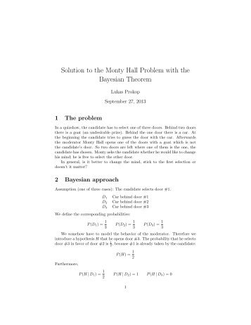application of bayes theorem in statistics