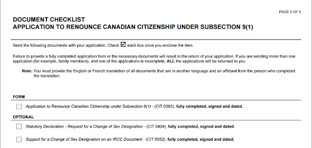 application for canadian citizenship checklist