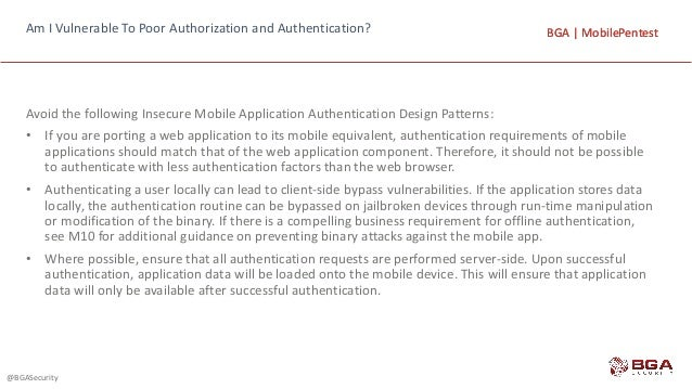 mobile application penetration testing checklist