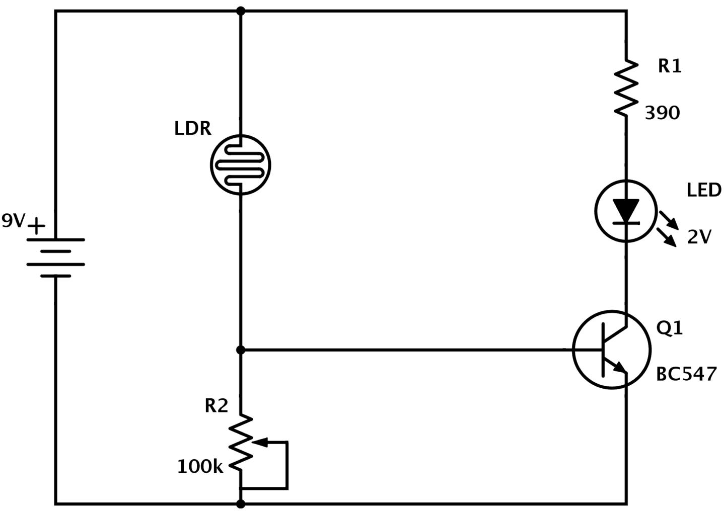 application of light sensor circuit