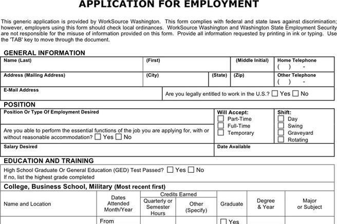 download walmart job application form free