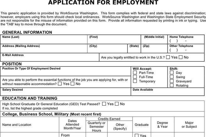 download walmart job application form free