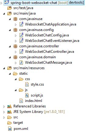 chat application using spring boot