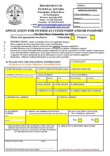 embassy of india passport application form