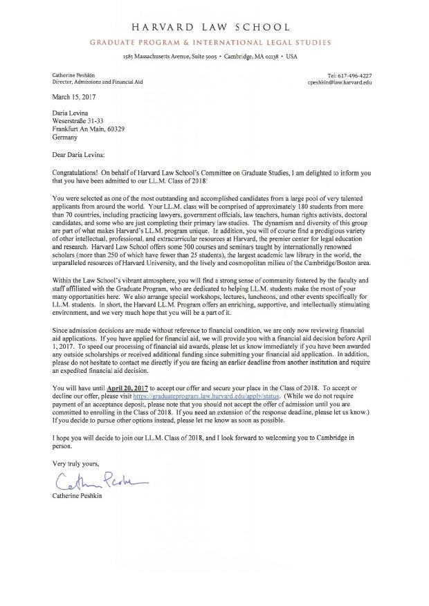 harvard law school llm application