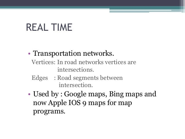 real time applications of data structures