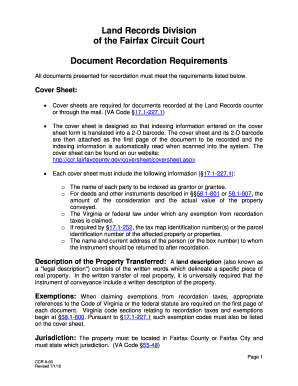 requirements for land title application
