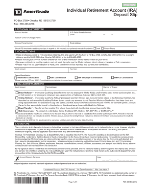 td ameritrade beneficiary individual retirement account application