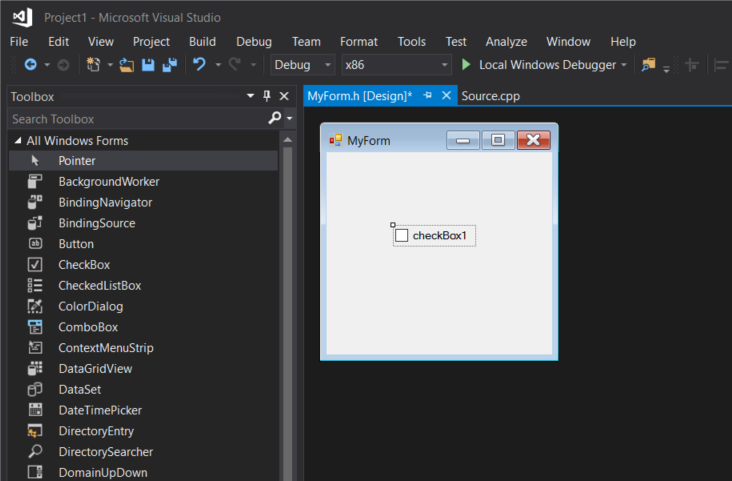windows form application visual studio 2013
